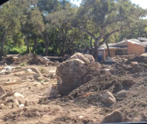 Santa Barbara Mudslide Damage